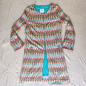 Weill Colorful Chevron Long Line Cardigan Duster